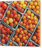 Market Fresh Tomatos Wood Print