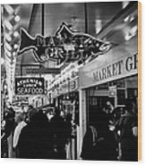 Market Grill In Pike Place Market Wood Print