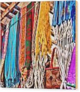 Market Hammocks In El Casco By Diana Sainz Wood Print