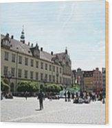 Market Place Wroclaw Wood Print