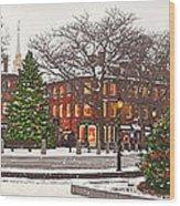 Market Square Christmas - 2013 Wood Print