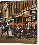 Market Square - Knoxville Tennessee Wood Print