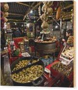 Market Stall Wood Print