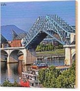Market Street Bridge Rising Wood Print