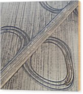 Marks On The Ground Aerial Photography Wood Print