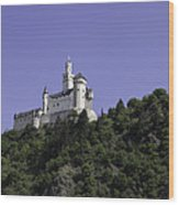 Marksburg Castle 24 Squared Wood Print