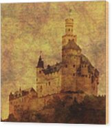 Marksburg Castle In The Rhine River Valley Wood Print