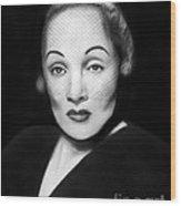 Marlene Dietrich Wood Print by Peter Piatt