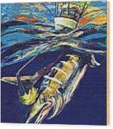 Marlin Catch Wood Print