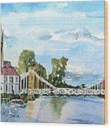 Marlow On Thames 2 Wood Print