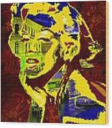 marlyn goes to Venice  Wood Print