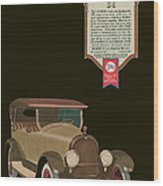 Marmon 34  - Vintage Poster Wood Print