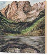 Maroon Bells Colorado - Landscape Wood Print