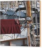 Maroon Sail  Wood Print by John Rizzuto