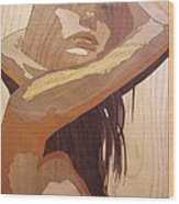 Marquetry Wood Work The Lady Wood Print