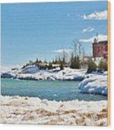 Marquette Harbor Light Station Wood Print