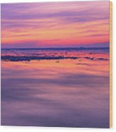 Marquette Sunset On Ice Wood Print