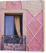 Marrakesh Balcony Wood Print