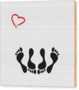 Married Footprints Wood Print