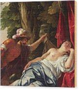 Mars And The Vestal Virgin Wood Print