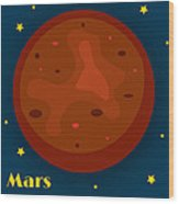 Mars Wood Print by Christy Beckwith