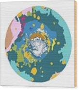 Mars North Polar Map Wood Print