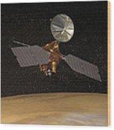 Mars Reconnaissance Orbiter Wood Print