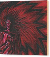 Mars Rising Wood Print