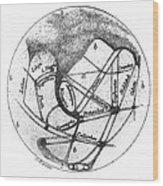 Mars: Schiaparelli, 1877 Wood Print