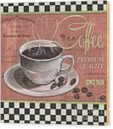 Marsala Coffee 1 Wood Print