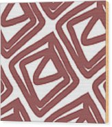 Marsala Envelopes- Abstract Pattern Wood Print
