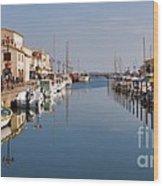 Marseillan Harbour Wood Print