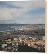 Marseille View From Cathedral Notre Dame De La Garde Wood Print
