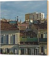 Marseilles Houses Wood Print