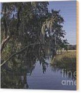 Marsh Creek Wood Print