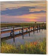 Marsh Harbor Wood Print