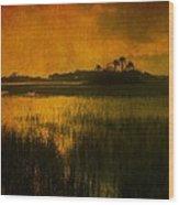 Marsh Island Sunset Wood Print