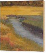 Marsh Mellow Wood Print