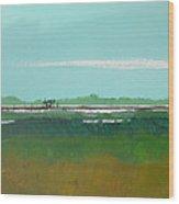 Marsh Pier Wood Print