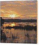 Marsh Sunrise 2 Wood Print