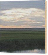 Marsh Sunset 1 Wood Print