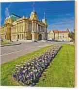 Marshal Tito Square In Zagreb Wood Print