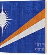 Marshall Islands Flag Wood Print