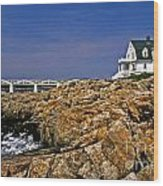 Marshall Point Lighthouse Complex Wood Print