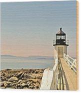 Marshall Point Lighthouse Maine Wood Print