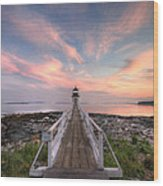 Marshall Point Sunset Wood Print