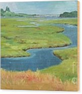 Marshes At High Tide Wood Print