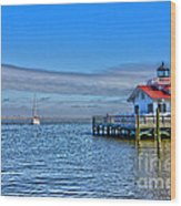 Marshes Lighthouse Wood Print