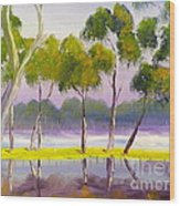 Marshlands Murray River Red River Gums Wood Print