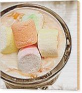 Marshmallow Peach Yogurt Parfait Wood Print